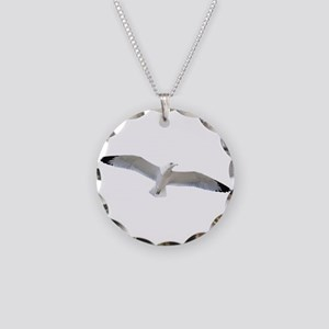 Seagull in flight Necklace Circle Charm