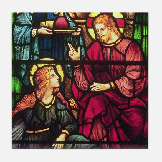 Mary Magdalene and Jesus Tile Coaster