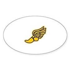 Black and Gold Track Foot Sticker (Oval)