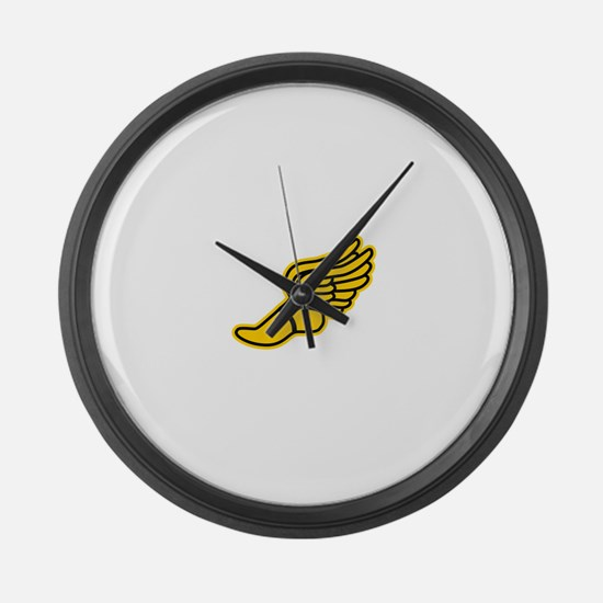 Black and Gold Track Foot Large Wall Clock
