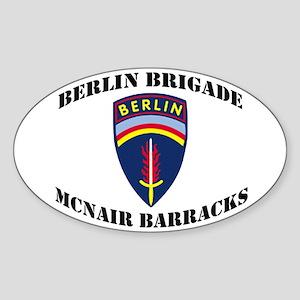 Berlin Brigade McNair Barracks Sticker (Oval)