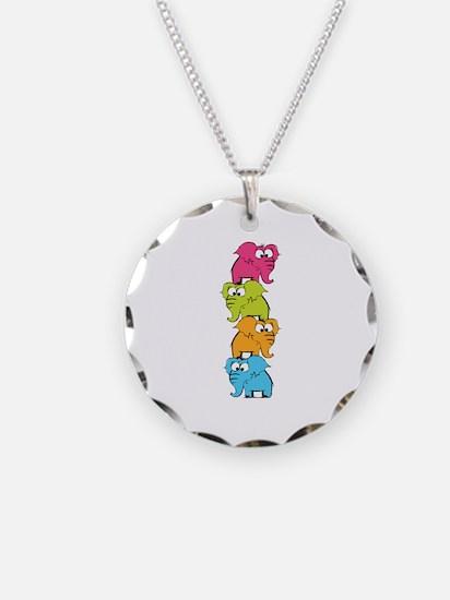 Cute elephants Necklace