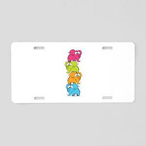 Cute elephants Aluminum License Plate