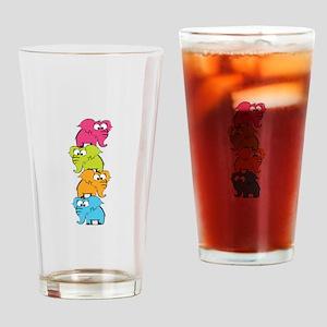 Cute elephants Drinking Glass