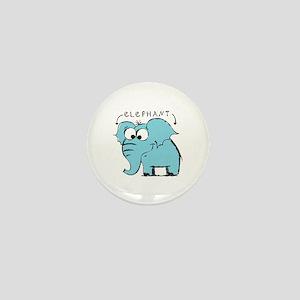 Cute elephants Mini Button