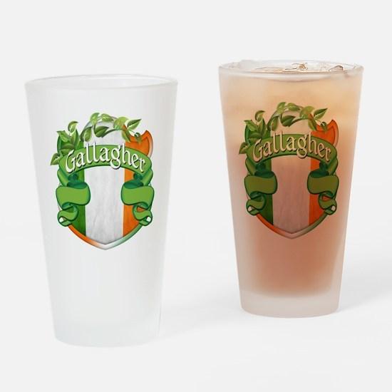 Gallagher Shield Drinking Glass