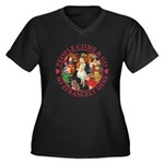 People Come and Go Women's Plus Size V-Neck Dark T