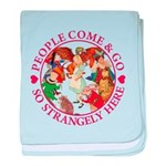 People Come and Go baby blanket