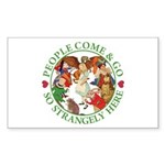 People Come and Go Sticker (Rectangle)