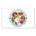 People Come and Go Sticker (Rectangle 50 pk)