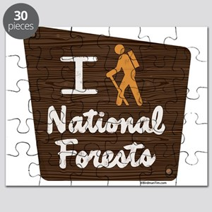 I HIKE NATIONAL FORESTS Puzzle