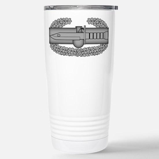 Combat Action Badge Stainless Steel Travel Mug