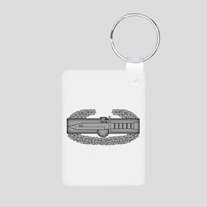 Combat Action Badge Aluminum Photo Keychain