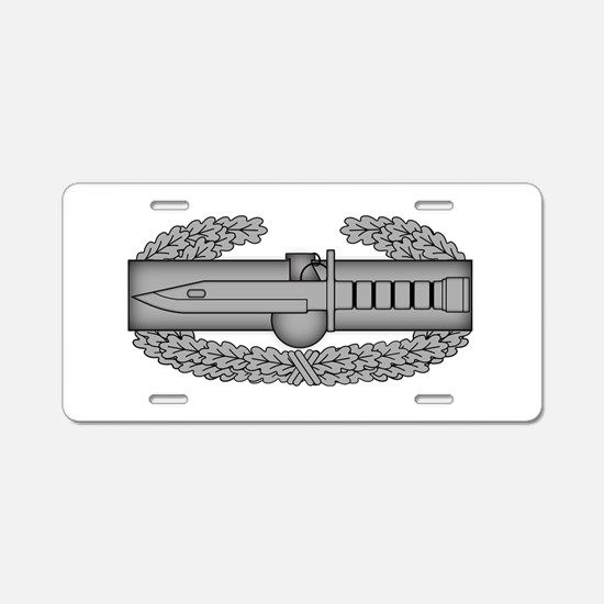 Combat Action Badge Aluminum License Plate