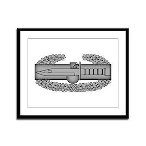 Combat Action Badge Framed Panel Print