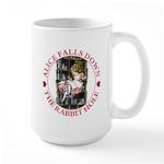 Alice Falls Down the Rabbit Hole Large Mug