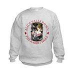 Alice Falls Down the Rabbit Hole Kids Sweatshirt