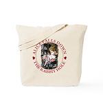 Alice Falls Down the Rabbit Hole Tote Bag