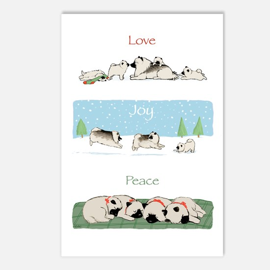 Keeshond Love Joy Peace Postcards (Pkg of 8)