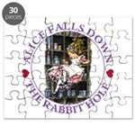 Alice Falls Down the Rabbit Hole Puzzle