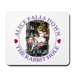 Alice Falls Down the Rabbit Hole Mousepad