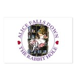 Alice Falls Down the Rabbit Hole Postcards (Packag