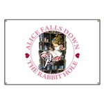 Alice Falls Down the Rabbit Hole Banner