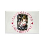 Alice Falls Down the Rabbit Hole Rectangle Magnet
