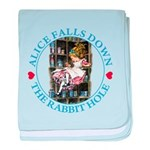 Alice Falls Down the Rabbit Hole baby blanket