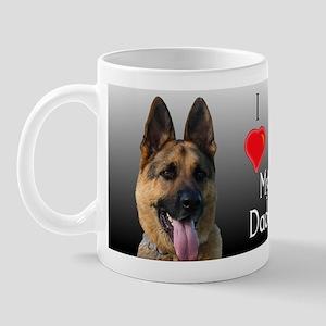 I heart My Daddy GSD Mug