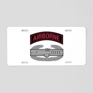 CAB w Airborne Tab - Red Aluminum License Plate