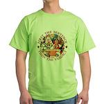 First The Sentence, Then the Verdict Green T-Shirt