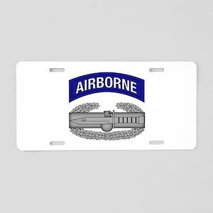 CAB w Airborne Tab - Blue Aluminum License Plate