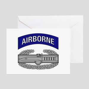 CAB w Airborne Tab - Blue Greeting Cards (Pk of 10