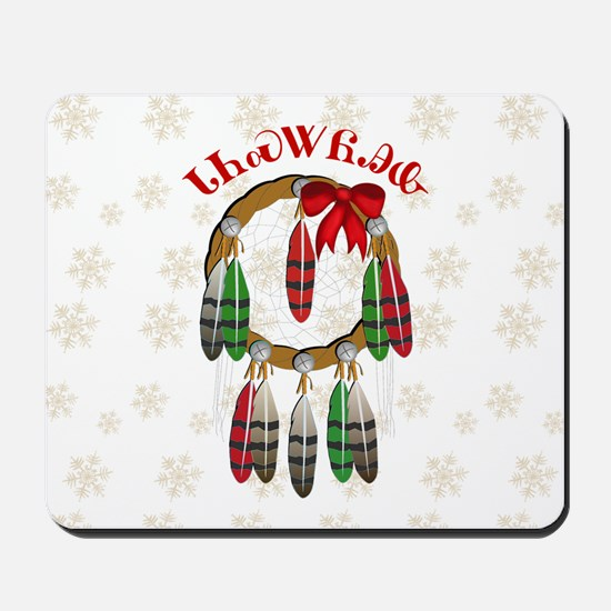 Cherokee Christmas Dream Catcher Mousepad