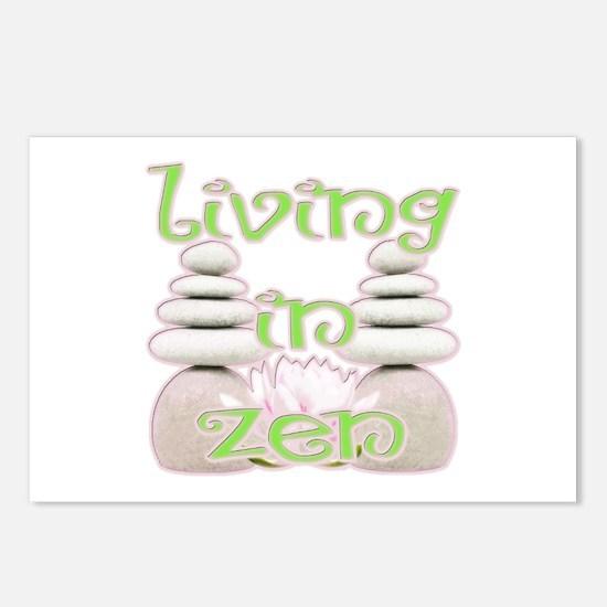 Living in Zen Postcards (Package of 8)