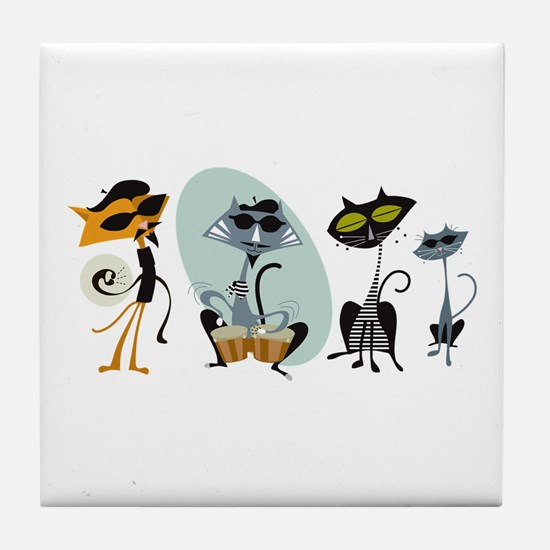 Cool Cats and Kits Tile Coaster