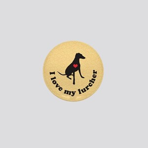 I Love My Lurcher Mini Button