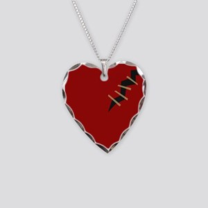 Mend Broken Heart Necklace Heart Charm