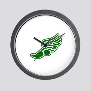 Green Winged Track Foot Wall Clock