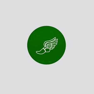 Green Winged Track Foot Mini Button