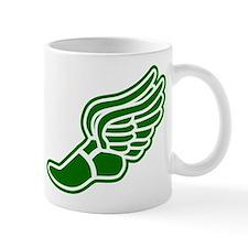 Green Winged Track Foot Mug