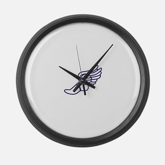 Purple Winged Track Foot Large Wall Clock