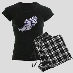 Purple Winged Track Foot Women's Dark Pajamas