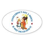 Everything's Got a Moral Sticker (Oval 10 pk)