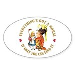 Everything's Got a Moral Sticker (Oval)