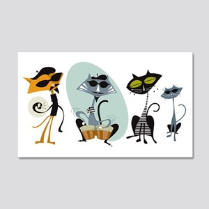 Cool Cats and Kits 22x14 Wall Peel