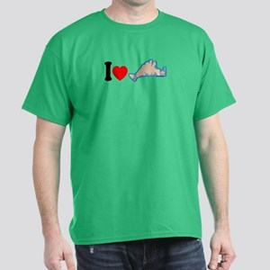 Martha's Vineyard MA - I Love Design. Dark T-Shirt
