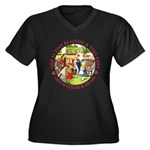 She is Too Blonde Women's Plus Size V-Neck Dark T-