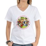 She is Too Blonde Women's V-Neck T-Shirt